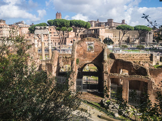 View of the Roman Forum from the Capitoline Hill. Rome, Italy