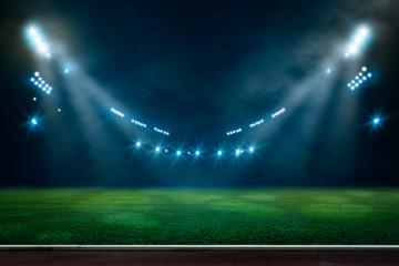 lights at night and stadium 3D rendering. Fotobehang