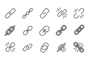 Icon set of link.