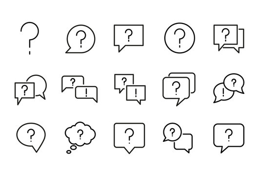 Icon set of question.