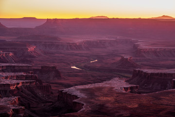 Southwest Sunset - Canyonlands National Park - Moab Utah