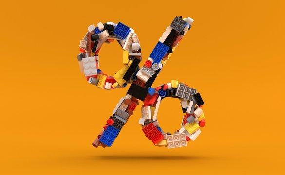 Bricks in percent symbol shape