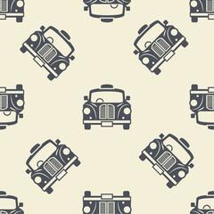 Seamless pattern taxi cab