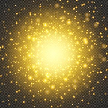 Cosmic Radiance.. Bright galactic explosion. Firework effect. Vector illustration