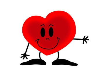 Obraz serce, Walentynki, uczucia, obrazek rysunek, święto zakochanych - fototapety do salonu