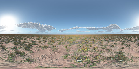 360 Grad Panorama mit einer außerirdischen Landschaft