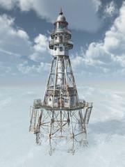 Leuchtturm im offenen Meer