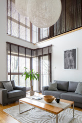 Living room in two-floor apartment