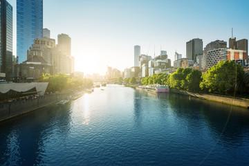 Fotomurales - sunset, Yarra River, Melbourne, Victoria, Australia