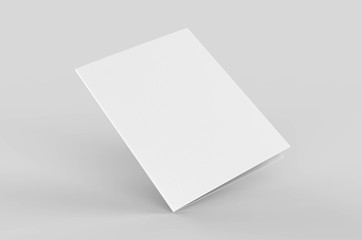 Blank bi fold card template, 3d render illustration. Fototapete