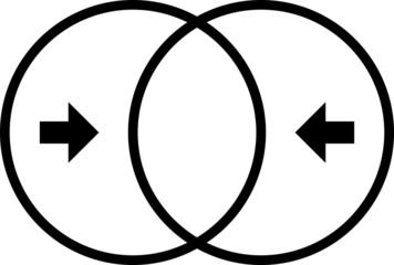 Merge icon - vector illustration