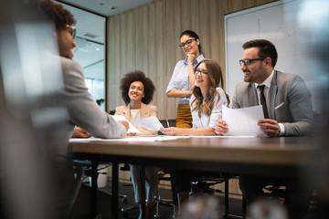 Wall Mural - Meeting Corporate Success Business Brainstorming Teamwork Concept