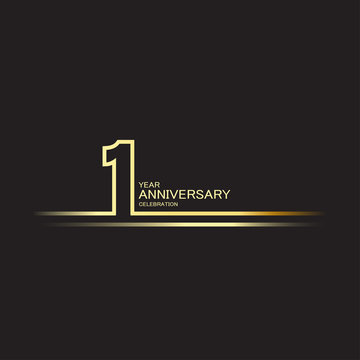 1 Year Anniversary Vector Template Design Illustration
