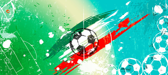 abstract background for soccer/footbal, design template, great soccer event, copy space, grungy