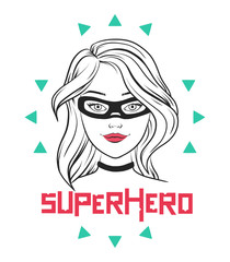 Cute female superhero design