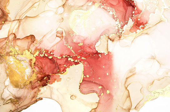 Abstract artwork. Trendy wallpaper. Alcohol Ink Art. - Image
