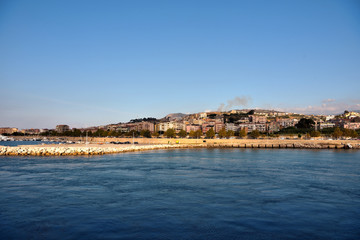 view from the Villa San Giovanni Italy ferry