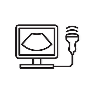 ultrasound diagnosis icon- vector illustration