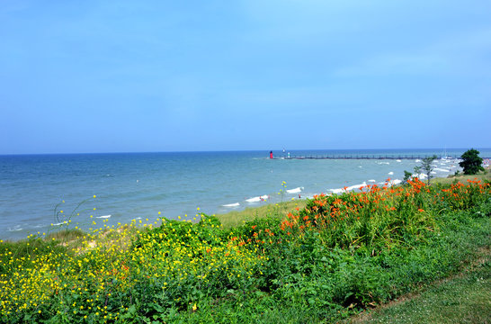 Lake Michigan and South Haven Ligththouse