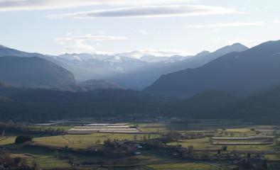Papiers peints Blanc Montagnes à la campagne