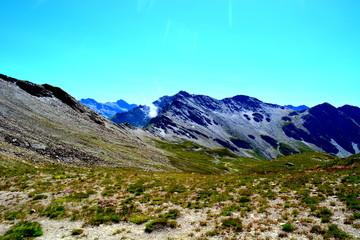 Poster de jardin Turquoise paysage de montagne