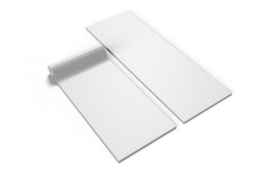 Blank yoga mat for branding, 3d render illustration.