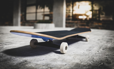 Skateboard on a concrete surface