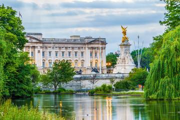 Facade of Buckingham Palace in London