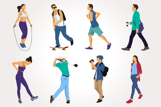 People Activity Collection in Vector Illustration