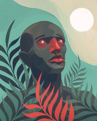 Homme dans la jungle