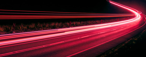 Foto op Canvas Bordeaux lights of cars with night. long exposure