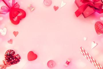 Valentine's day background,empty copy space backdrop,romantic design frame,border.