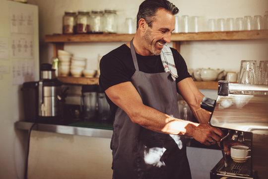 Barista working in coffee shop