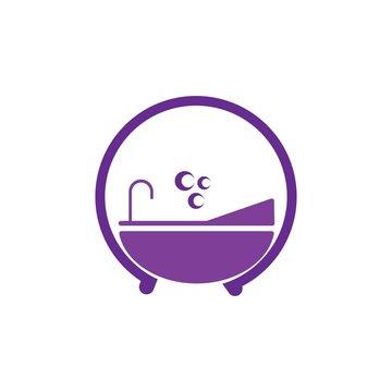 bathtub logo vector
