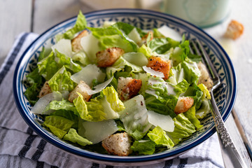 Caesar salad with parmesan and homemade croutons.