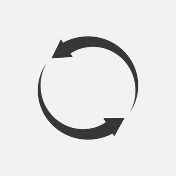 Refresh vector icon symbol website and graphic designing