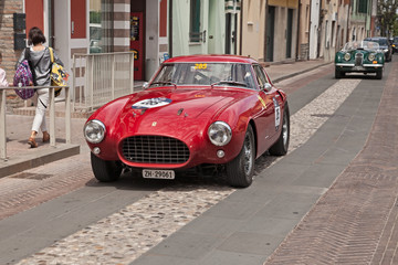 racing car Ferrari 250 MM Berlinetta Pininfarina (1953) in Mille Miglia 2017