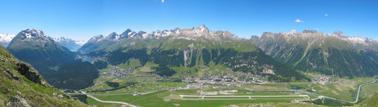 Samedan, Airport St. Moritz, Engadin, Schweiz