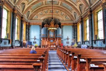 Fototapeta Interior Of United Reformed Church In Saltaire