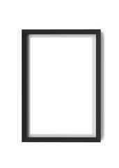 black frame isolated on white