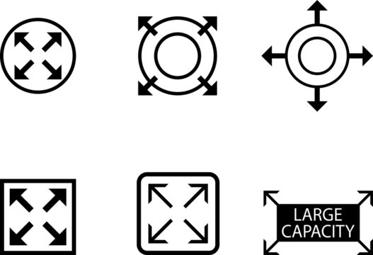 large capacity icon, expand icon