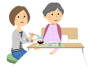 食事を嫌がる高齢者 食事介助 介護