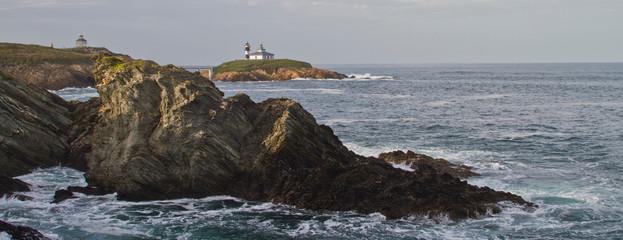 Pancha Island light house Galicia Spain