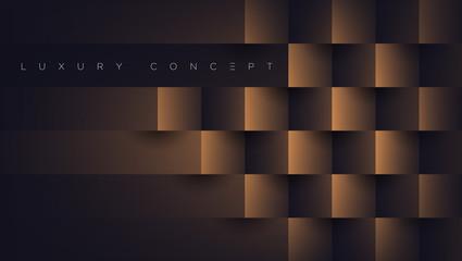 Obraz Luxury abstract golden blocks. Vector EPS background 3d paper art style for poster, book design, brochure, flyer, website, advertising etc. - fototapety do salonu