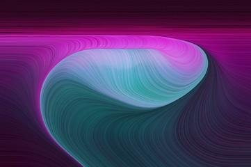 Fotobehang Fractal waves abstract artistic wallpaper design with very dark violet, medium orchid and cadet blue colors. good wallpaper or canvas design