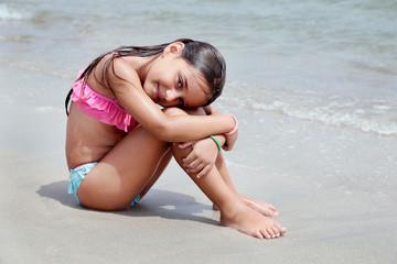 In spiaggia sul bagnasciuga