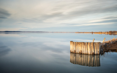 Calm and quiet mood on a lake in Burgenland