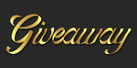 Giveaway hand drawn lettering phrase illustration