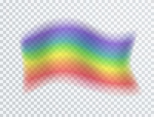 Pride homosexual parade symbol isolated on transparent background. Vector rainbow color flag icon for your design..