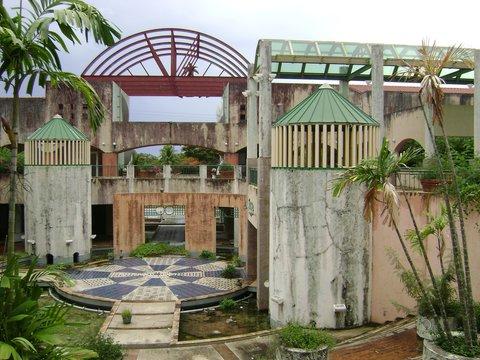 Ruins of the abandoned La Fiesta Mall in San Roque, Saipan, Northern Mariana Islands.